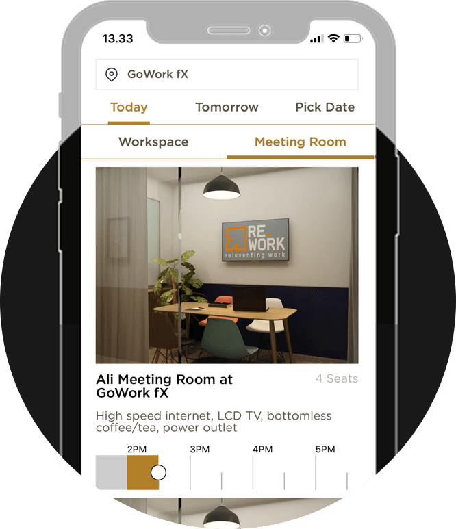 Book workspace or meeting rooms