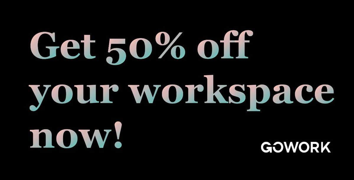 50% off Coworking Space