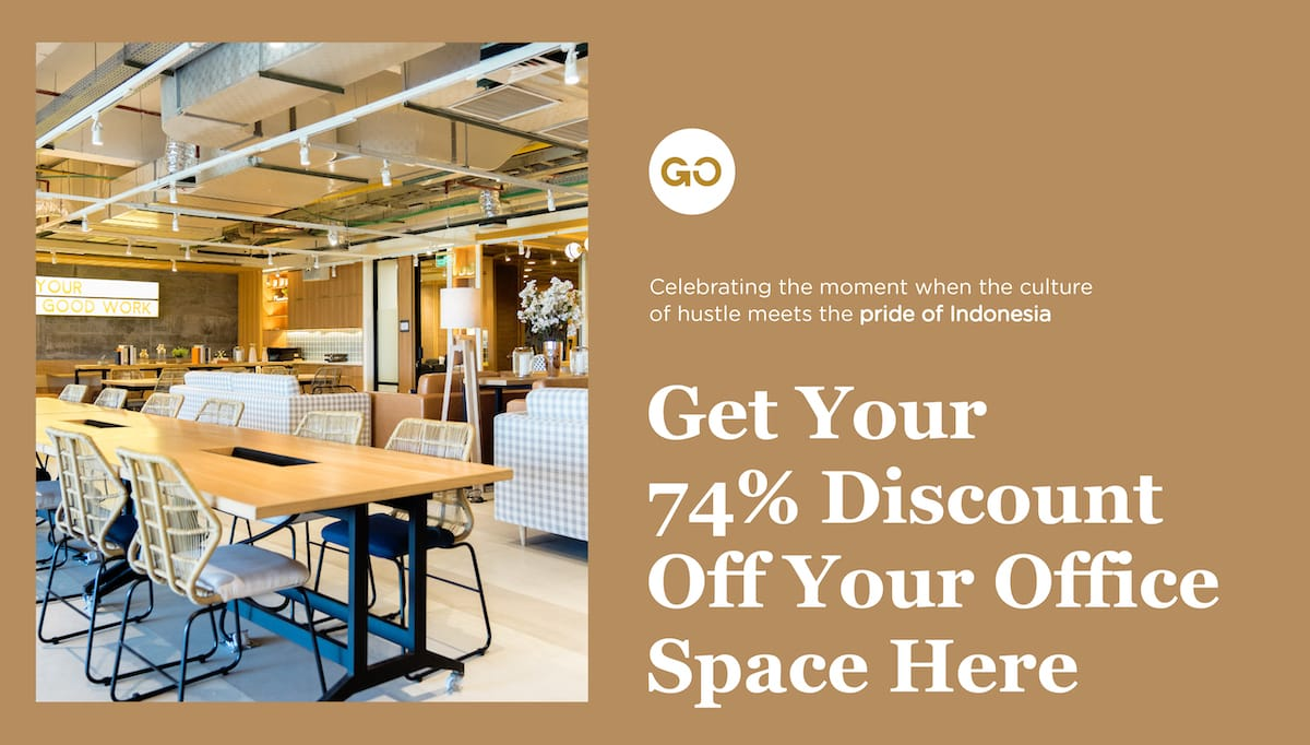 74% discount off Office Space